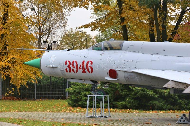 Mig-21 sovjetvliegtuigen royalty-vrije stock foto's