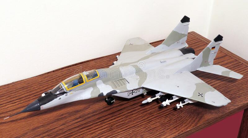 Mig-29 Trainer Scale Model Jet Fighter Plane royalty free stock photography