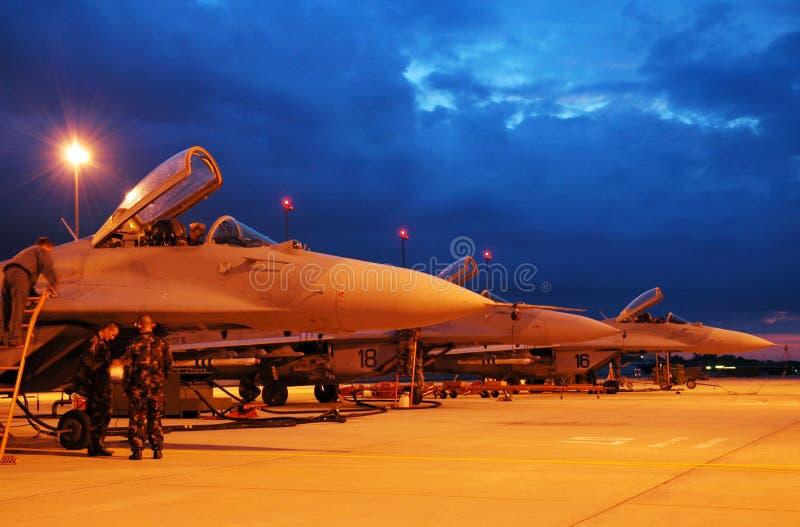 MiG29s in streek royalty-vrije stock fotografie