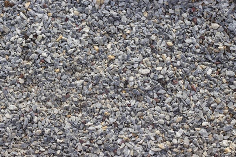 Miga de mármol gris, pequeñas piedras de la grava, fondo de la textura fotos de archivo