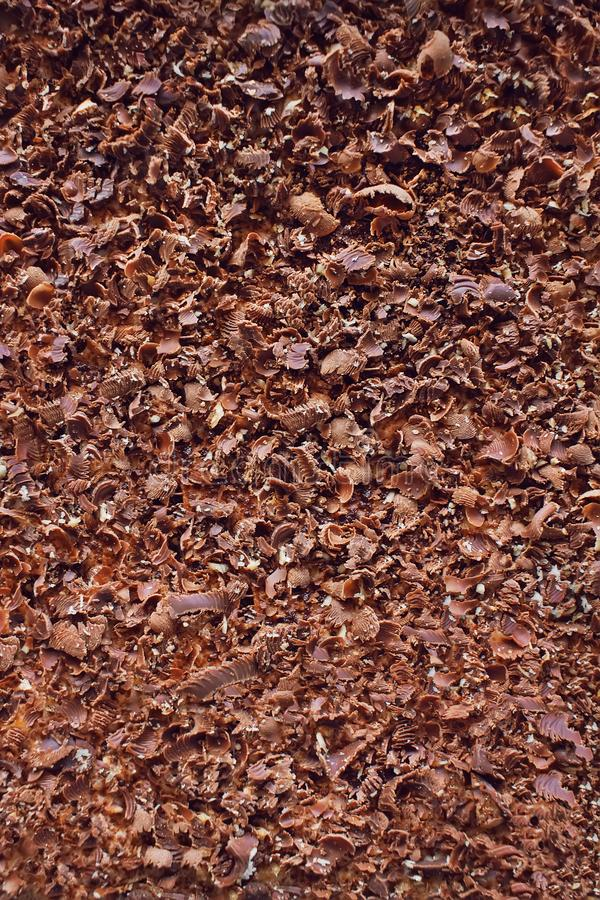 Migalha saboroso do chocolalate, fundo textured foto de stock