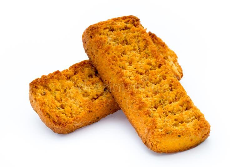 Migas de los cuscurrones del pan Comida de Eco imagen de archivo