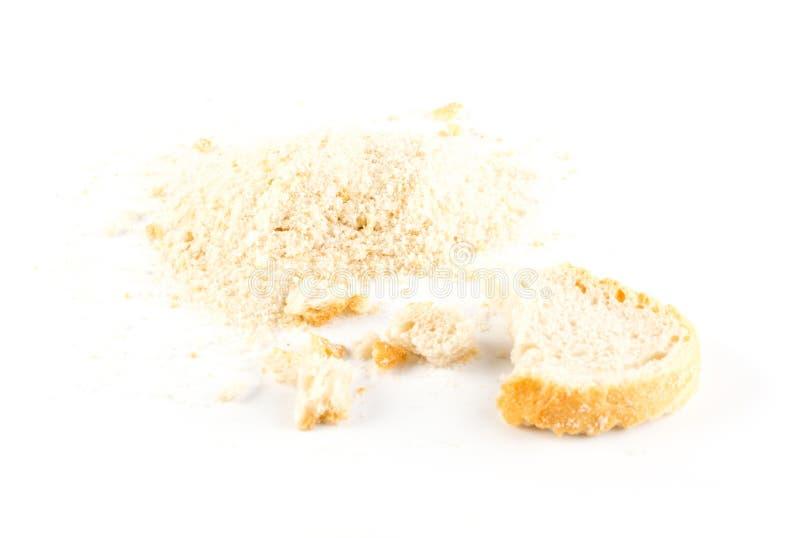 Migas de pan o migas machacadas del bizcocho tostado foto de archivo libre de regalías