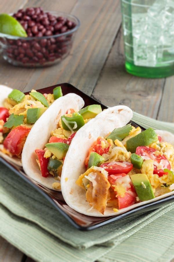 Migas Tacos στοκ φωτογραφία