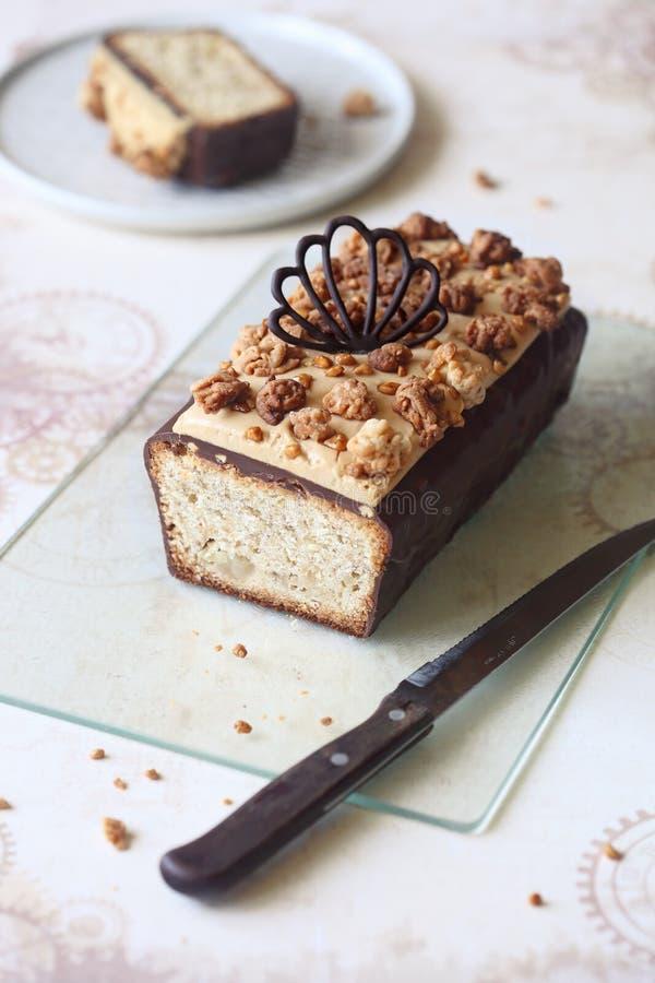 Migdałowy bonkreta bochenka tort fotografia stock