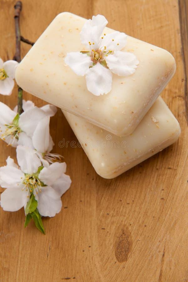 migdałowy setu mydła zdrój obrazy stock