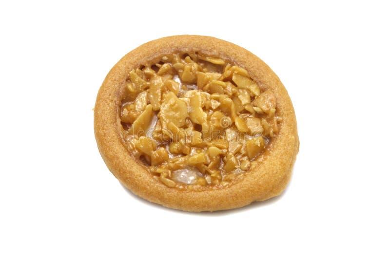 Migdałowy tarta i w ten sposób słodcy sosowani ciastka obrazy stock