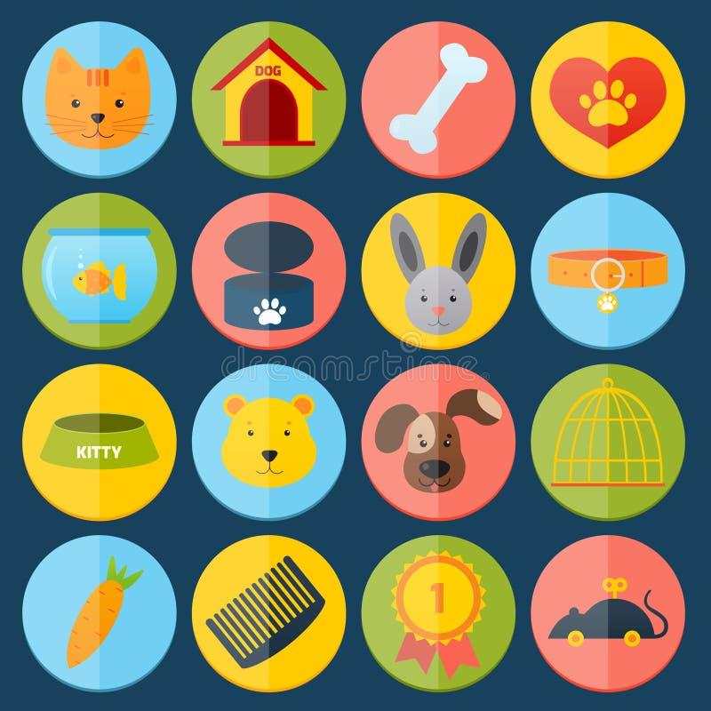 Migdali ikony ustawiać ilustracja wektor