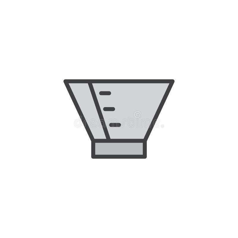 Migdali ochronny rożek wypełniającą kontur ikonę royalty ilustracja