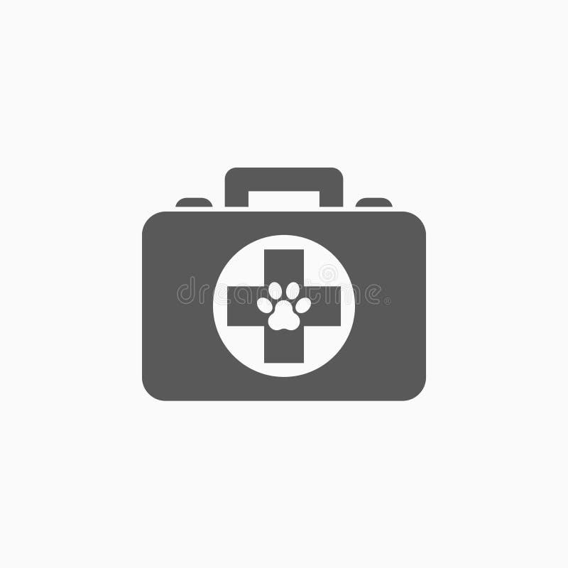 Migdali pierwsza pomoc zestawu ikonę, zdrowie, apteka royalty ilustracja