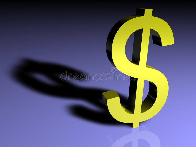 Download Mighty dollar stock illustration. Image of america, object - 4374211