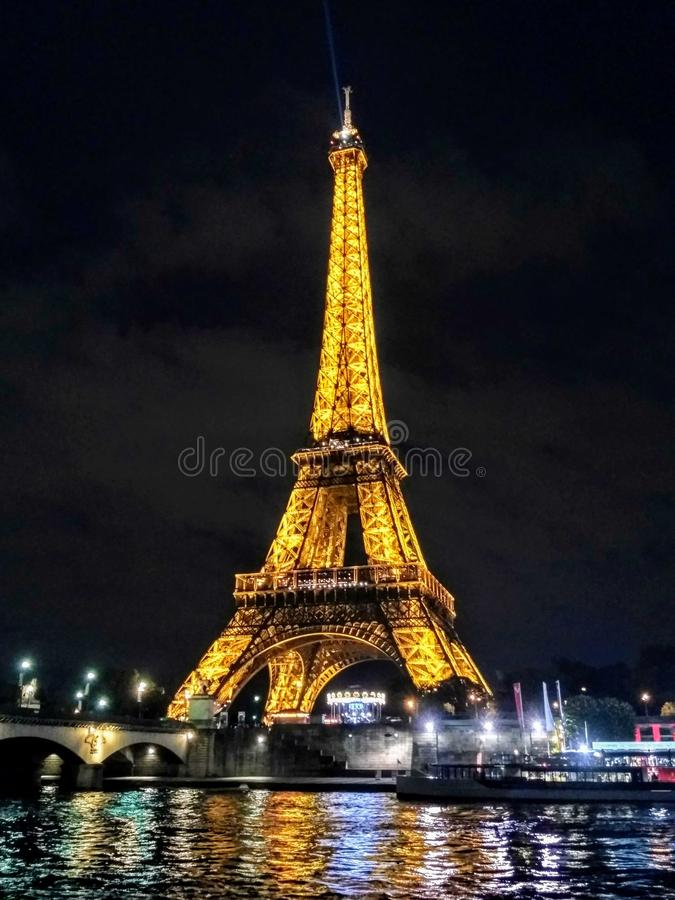 The mighty Eiffel. stock images