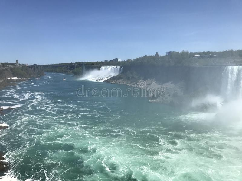 A mighty Falls. Powerful Falls in Canada royalty free stock images