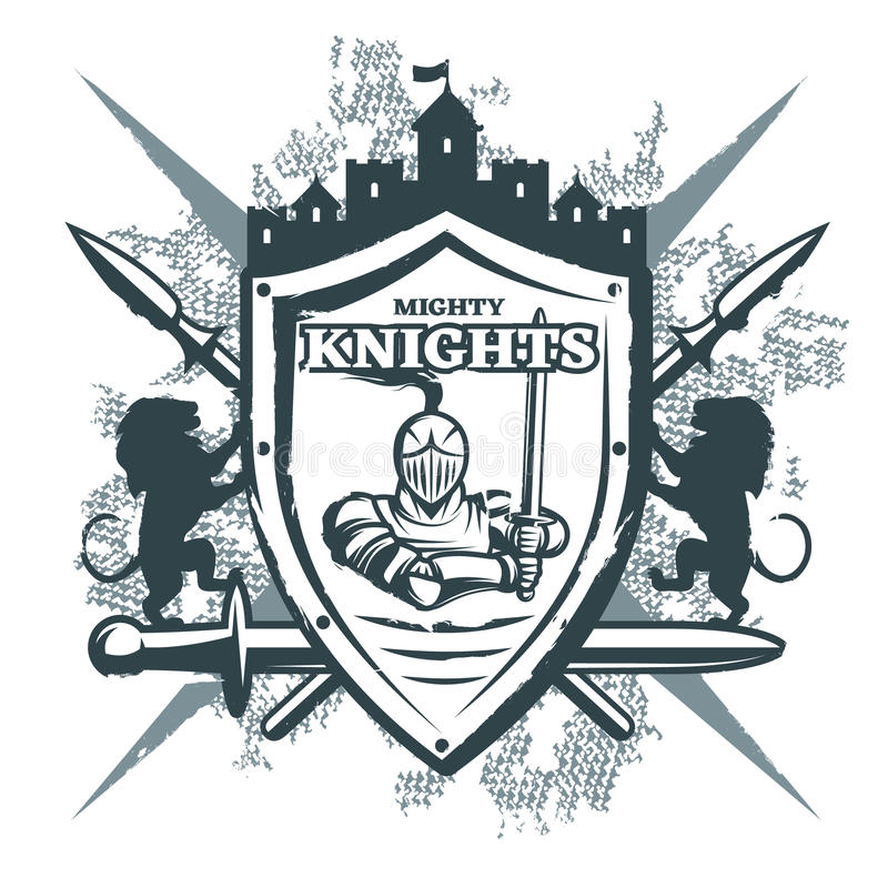 Mighty Knights Print Stock Vector Illustration Of Chivalry 77073987