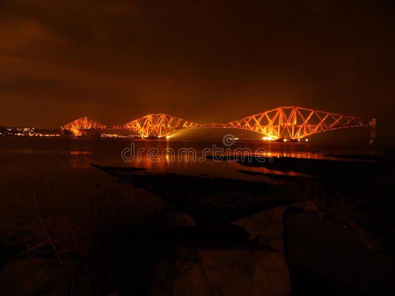 The Mighty Lady. The Grand old lady of the Forth stock photography