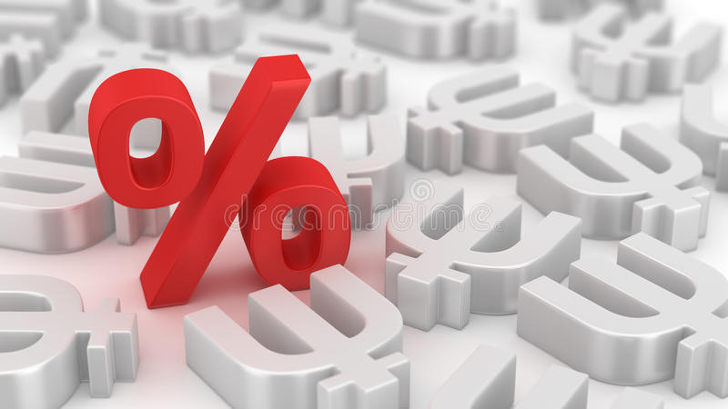 Mighty percent of primecoins royalty free stock photo