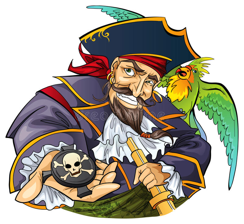 Mighty pirate royalty free illustration