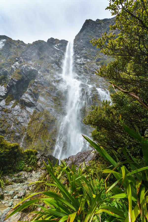 Mighty waterfalls, earland falls, southland, new zealand 7. Mighty waterfalls in the mountains, earland falls, southland, new zealand stock image