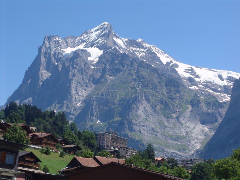 The Mighty Wetterhorn, Grindelwald, Switzerland royalty free stock image