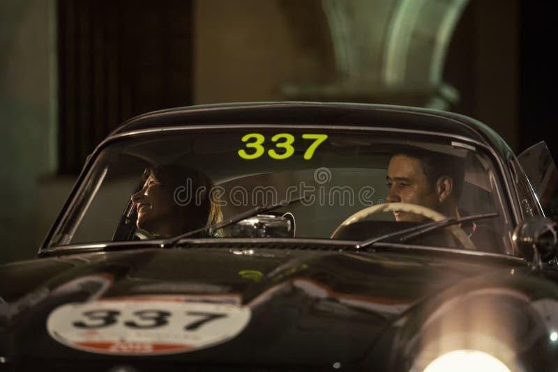 1000 Miglia 2015年,经典汽车意大利种族  免版税图库摄影
