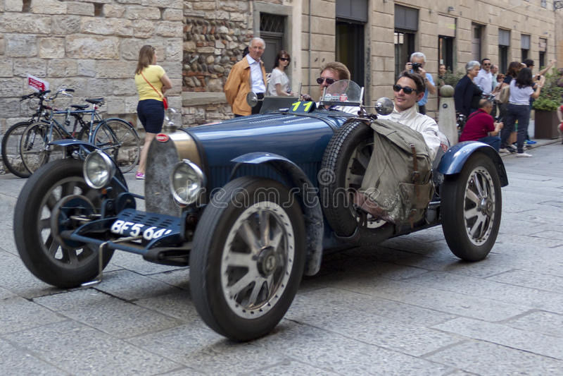 1000 Miglia 2015, Włochy sławna samochodowa rasa zdjęcia stock