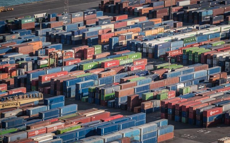 Migliaia di container fotografie stock