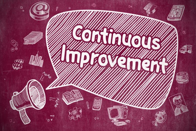 Miglioramento continuo - concetto di affari royalty illustrazione gratis