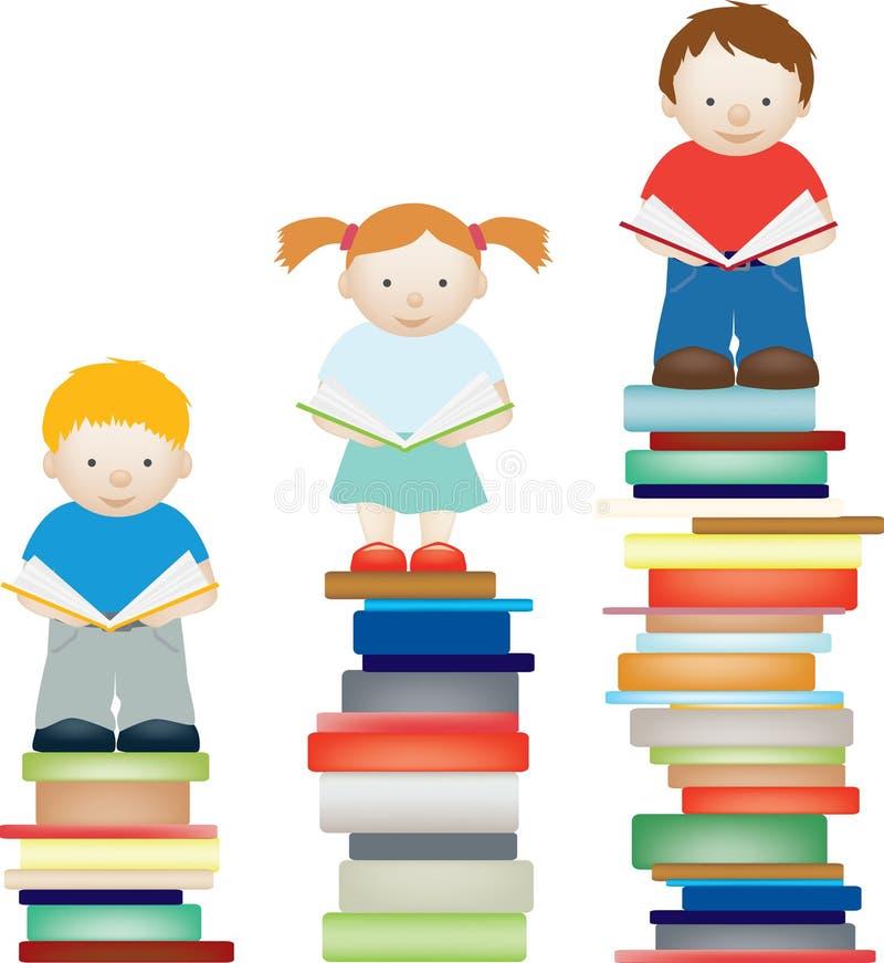 Miglioramento della lettura del bambino illustrazione di stock