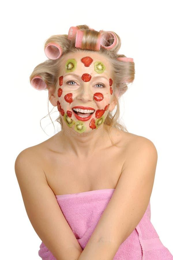 Miglioramento della mascherina da frutta fotografia stock libera da diritti