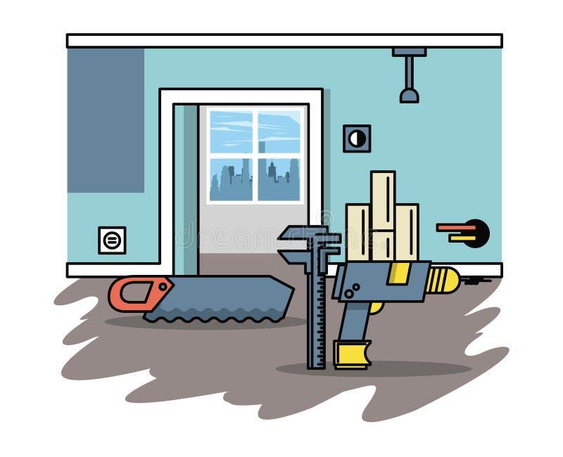 Miglioramento domestico e strumenti royalty illustrazione gratis