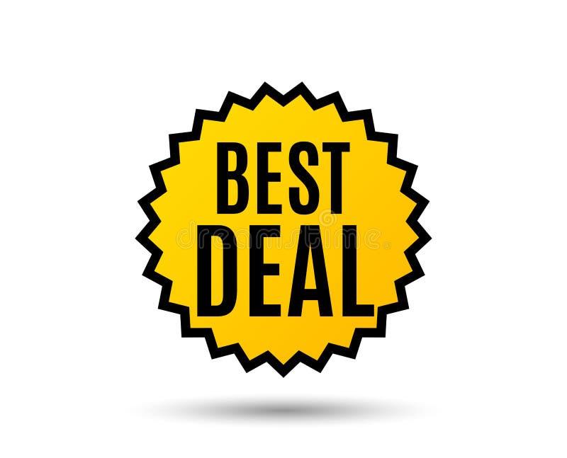 Migliore affare Segno di vendita di offerta speciale illustrazione di stock