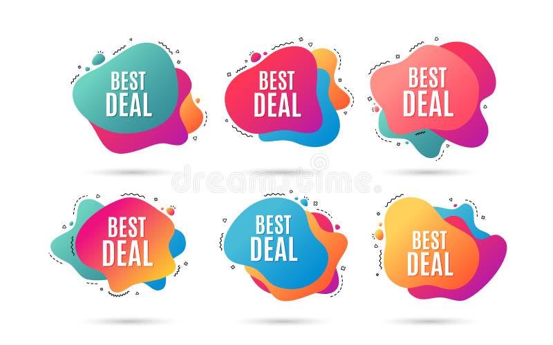 Migliore affare Segno di vendita di offerta speciale Vettore illustrazione vettoriale