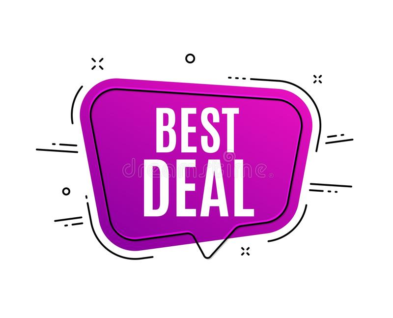 Migliore affare Segno di vendita di offerta speciale Vettore royalty illustrazione gratis