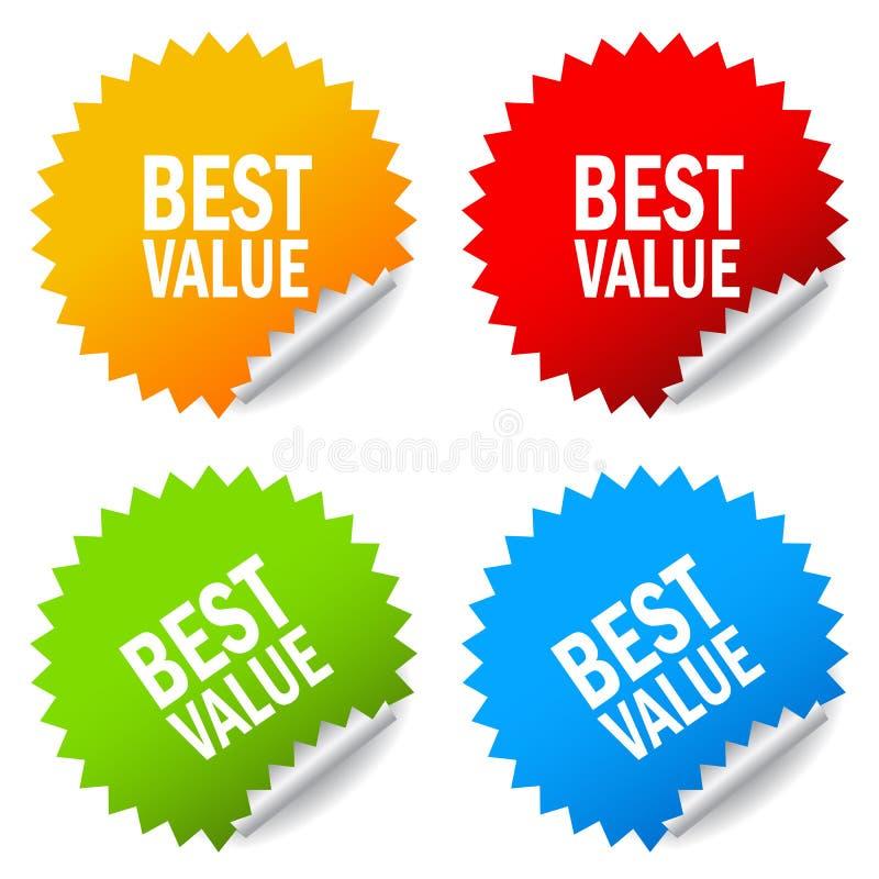 Migliore autoadesivo di valore illustrazione di stock