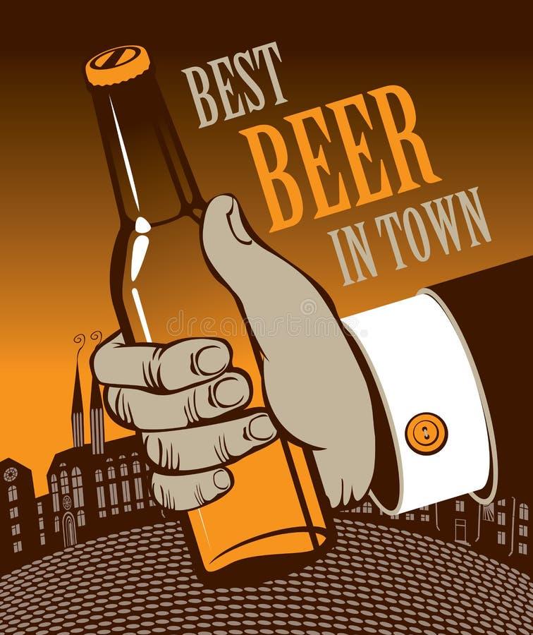 Migliore birra in città royalty illustrazione gratis