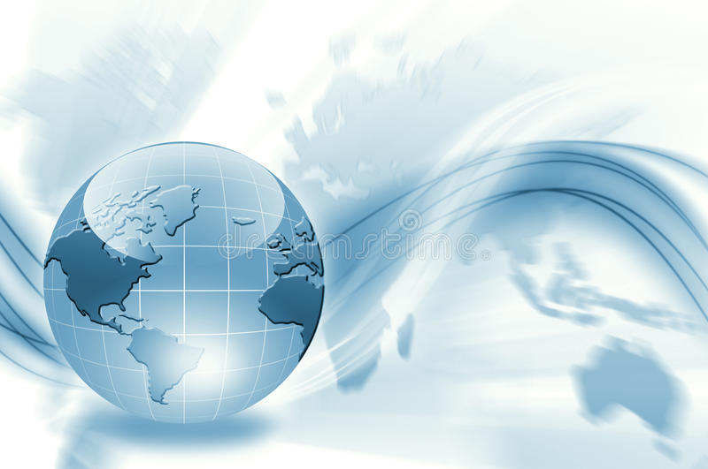 Migliore concetto del commercio globale royalty illustrazione gratis
