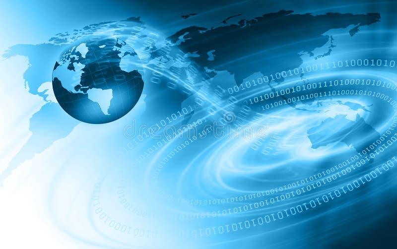 Migliore concetto del Internet del commercio globale da concentrato illustrazione di stock