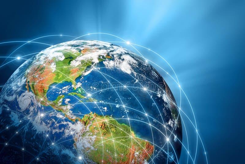Migliore concetto del Internet del commercio globale dalla serie di concetti illustrazione di stock