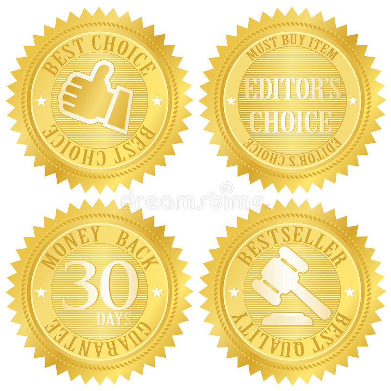 Migliore contrassegno dorato choice illustrazione vettoriale
