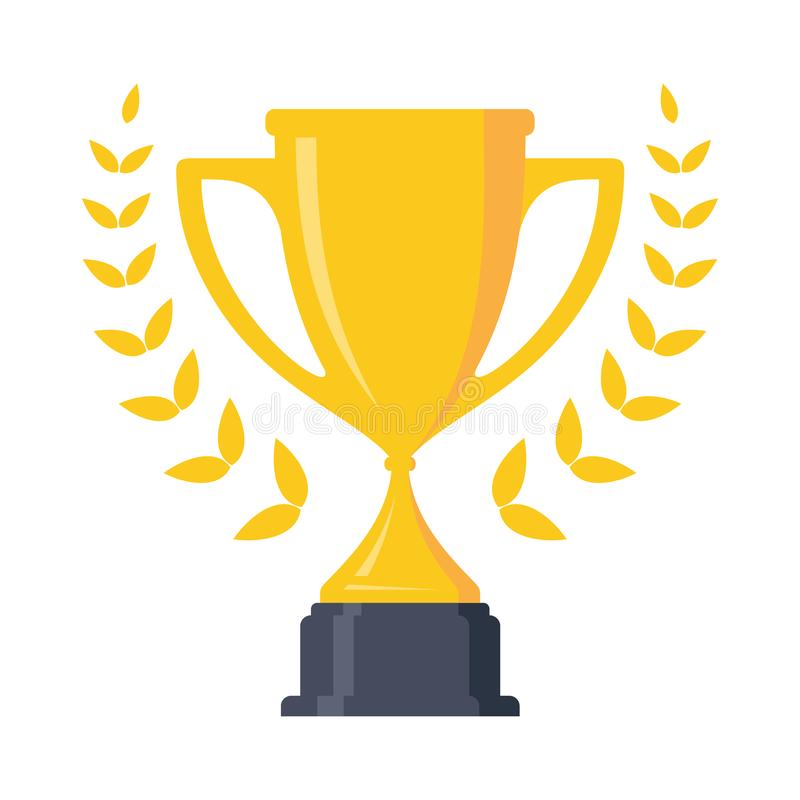 Migliore elemento semplice di progettazione della tazza del trofeo dell'icona royalty illustrazione gratis