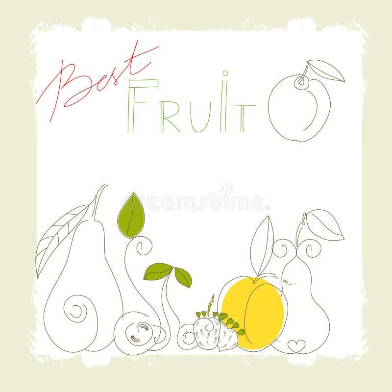 Migliore frutta illustrazione vettoriale