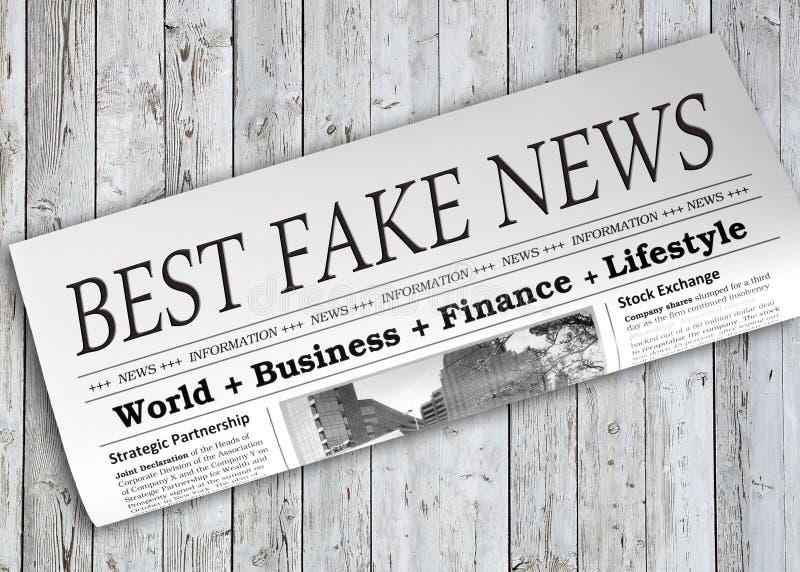 Migliore giornale falso di notizie fotografia stock libera da diritti
