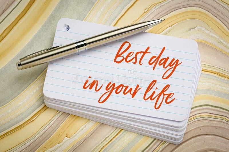 Migliore giorno nella vostra vita immagine stock libera da diritti