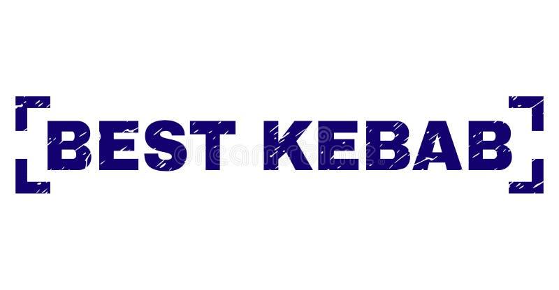 MIGLIORE guarnizione strutturata graffiata del bollo di KEBAB fra gli angoli illustrazione di stock