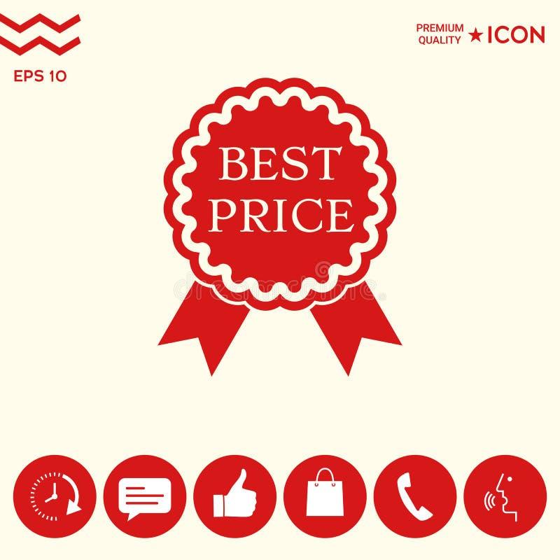 Download Migliore Icona Dell'etichetta Di Prezzi Con I Nastri Illustrazione Vettoriale - Illustrazione di nuovo, promozione: 117982191