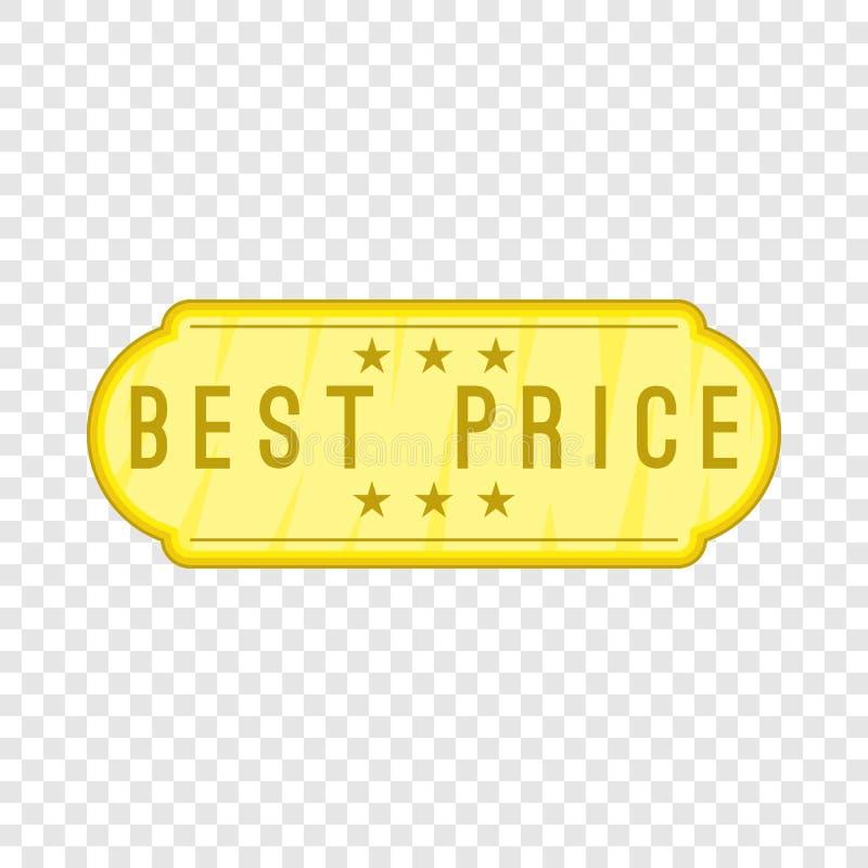 Migliore icona dell'etichetta di prezzi, stile del fumetto illustrazione vettoriale