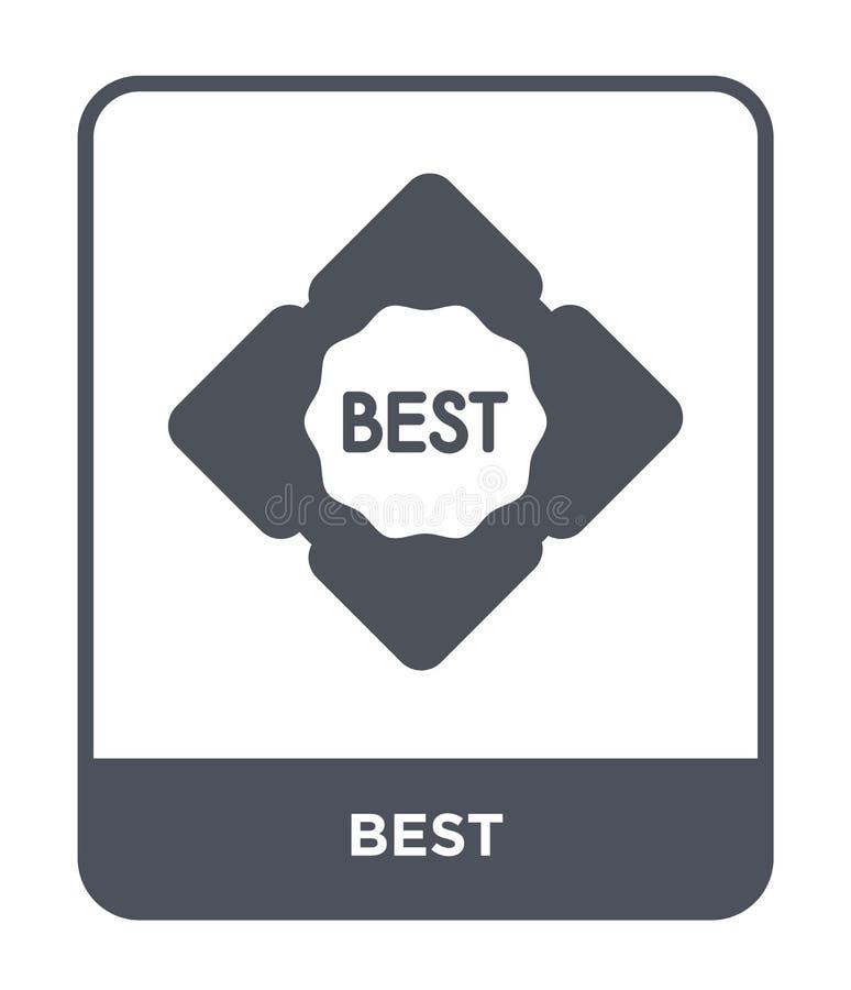 migliore icona nello stile d'avanguardia di progettazione migliore icona isolata su fondo bianco simbolo piano semplice e moderno royalty illustrazione gratis