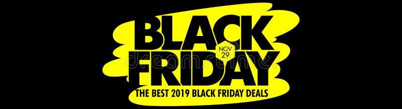 Migliore insegna nera dell'icona di venerdì royalty illustrazione gratis