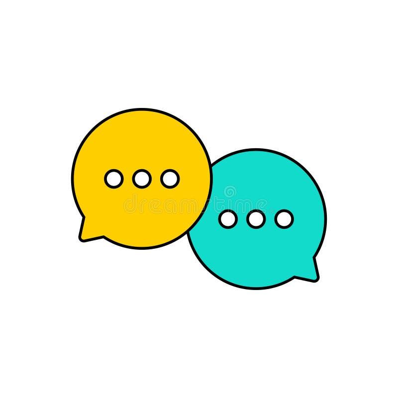 Migliore insieme del fumetto di chiacchierata Il modello delle bolle del messaggio chiacchiera le icone delle scatole Chiacchiera illustrazione vettoriale