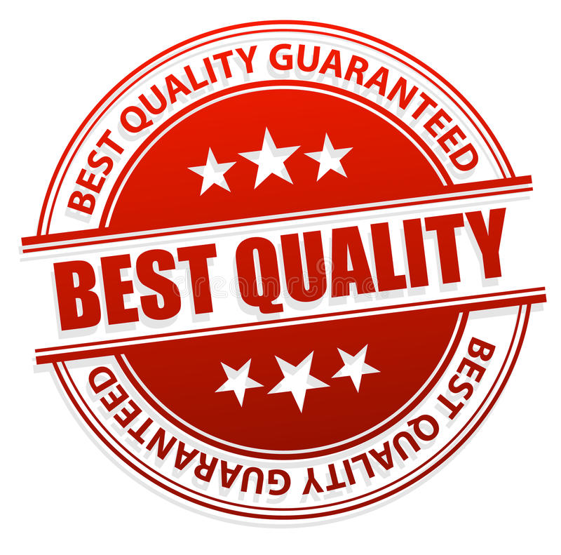 Migliore marchio di qualità illustrazione vettoriale